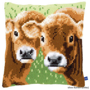 Vervaco stamped cross stitch kit cushion Two calves, DIY
