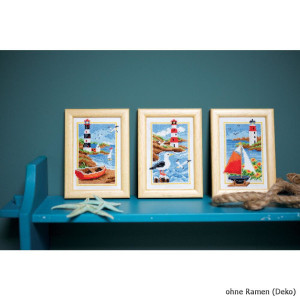 Vervaco Miniature counted cross stitch kit Lighthouse kit...
