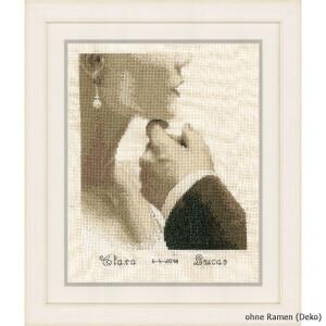 Vervaco Counted cross stitch kit Bride and groom, DIY