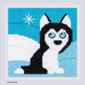 Riolis counted cross stitch Kit Husky in Snowdrifts, DIY