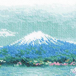 Riolis counted cross stitch Kit Sakura. Fuji, DIY