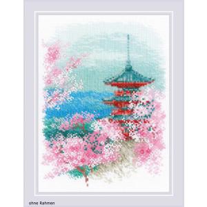 "Riolis Kreuzstich-Set ""Sakura. Pagode"",..."