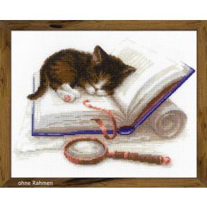 "Riolis Kreuzstich-Set ""Kätzchen auf dem..."
