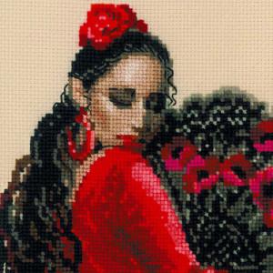 Riolis counted cross stitch Kit Dancer, DIY