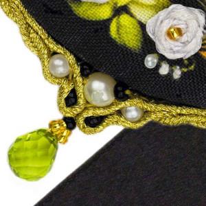 Riolis counted cross stitch Kit Pendant White Rose, DIY