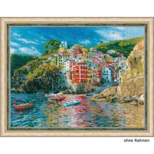Riolis counted cross stitch Kit Liguria, DIY