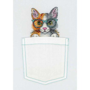 """Cross stitch kit """" tomcat"""" embroidery on clothes"""