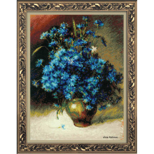 Riolis counted cross stitch Kit Cornflowers after I....