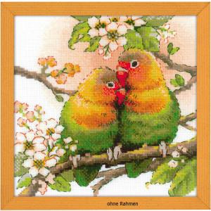 "Riolis Kreuzstichpackung ""Lovebirds"",..."