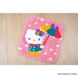 Vervaco Latch hook shaped rug kit HK A shower of hearts, DIY