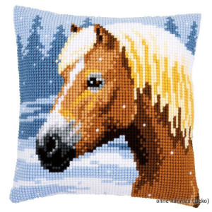 Vervaco stamped cross stitch kit cushion Horse &...