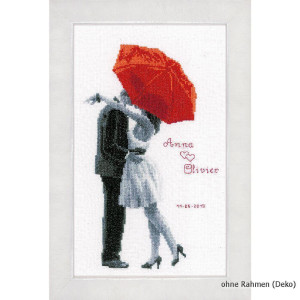 Vervaco Counted cross stitch kit Under my red umbrella, DIY
