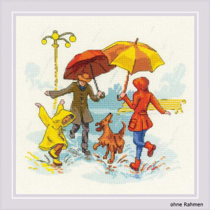 Riolis counted cross stitch Kit Theres No Bad Weather, DIY