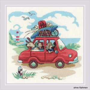 Riolis counted cross stitch Kit The Day Trip, DIY