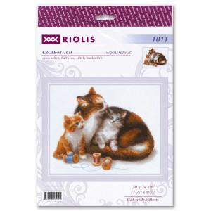 "Riolis Kreuzstich-Set ""Katze mit..."