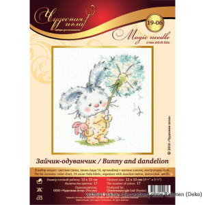 Magic Needle Counted cross stitch kit Bunny and...
