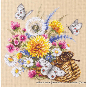 Magic Needle Counted cross stitch kit Meadow Flowers, 22...