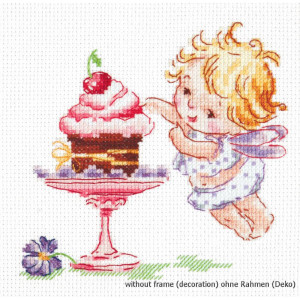 Magic Needle Counted cross stitch kit I Love Sweets !, 13...