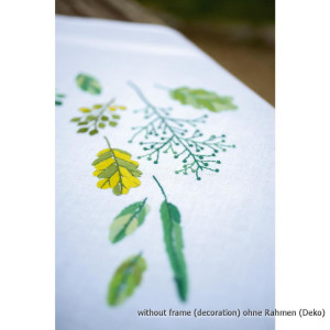 Vervaco tablecloth stitch embroidery kit Leaves &...