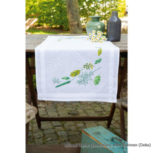 Vervaco tablerunner stitch embroidery kit Leaves &...