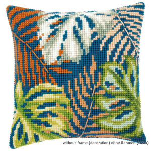 Vervaco stamped cross stitch kit cushion Leaves, DIY