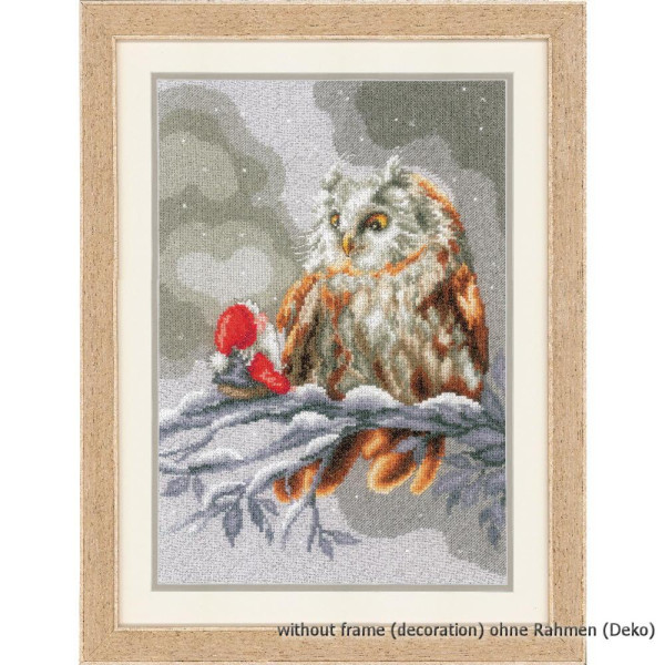 Counted Cross Stitch Kit Watercolour Owl