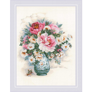 """Riolis counted cross stitch kit """"Peonies and Wild..."""