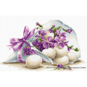 """Luca-S counted Cross Stitch kit """"Easter joy"""",..."""