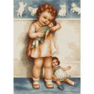 """Luca-S counted Cross Stitch kit """"Girl with..."""