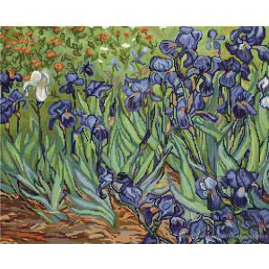 """Luca-S Kreuzstich Set """"Iris von Van Gogh"""",..."""