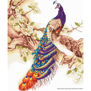"""Luca-S counted Cross Stitch kit """"Peacocks"""",..."""