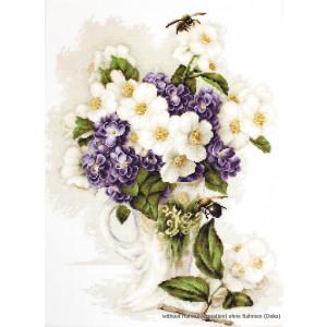 """Luca-S Kreuzstich Set """"Jasmin Blumen Vase"""",..."""