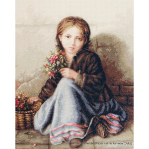 """Luca-S counted Cross Stitch kit """"Little flower..."""