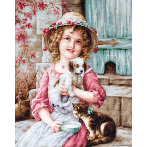 """Luca-S counted Cross Stitch kit """"Best of Friends..."""