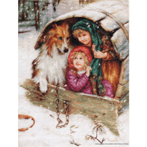 """Luca-S counted Cross Stitch kit """"Weather Bound with..."""