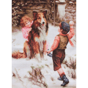 """Luca-S counted Cross Stitch kit """"Snowball..."""