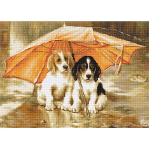 """Luca-S counted Cross Stitch kit """"Couple under an..."""