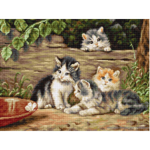 """Luca-S counted Cross Stitch kit """"Cats friends..."""