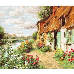 """Luca-S Kreuzstich Set """"Landschaft"""",..."""