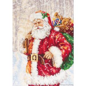 """Luca-S Kreuzstich Set """"Santa Claus"""",..."""
