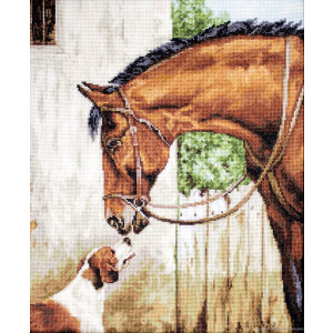 """Luca-S counted Cross Stitch kit """"Hunter and..."""