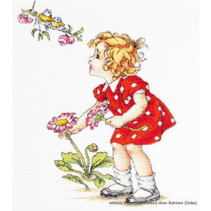 """Luca-S counted Cross Stitch kit """"Girl in Red..."""