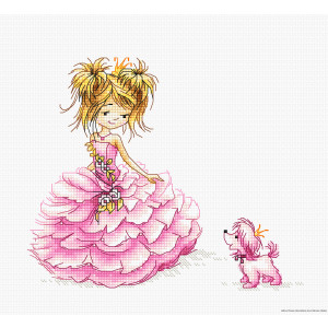 """Luca-S counted Cross Stitch kit """"The Princess"""",..."""