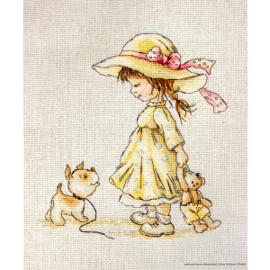 """Luca-S counted Cross Stitch kit """"Come with me"""",..."""
