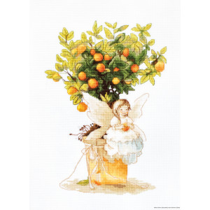 """Luca-S counted Cross Stitch kit """"Tangerine """",..."""
