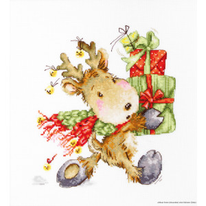 """Luca-S counted Cross Stitch kit """"Fawn in a..."""