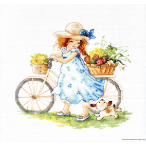 """Luca-S counted Cross Stitch kit """"Take a ride"""",..."""