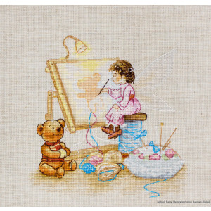 """Luca-S counted Cross Stitch kit """"Fairy embroiderer..."""