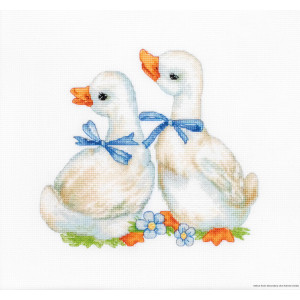 """Luca-S counted Cross Stitch kit """"Geese"""",..."""