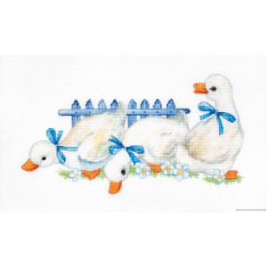 """Luca-S counted Cross Stitch kit """"Three geese"""",..."""